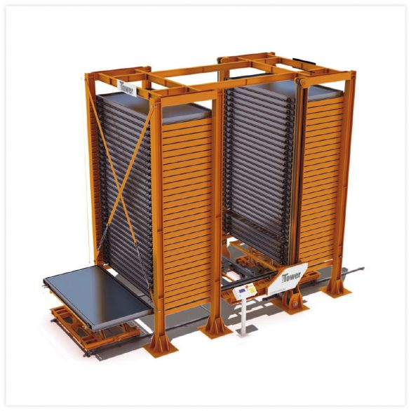 double tower for sheet metal storage